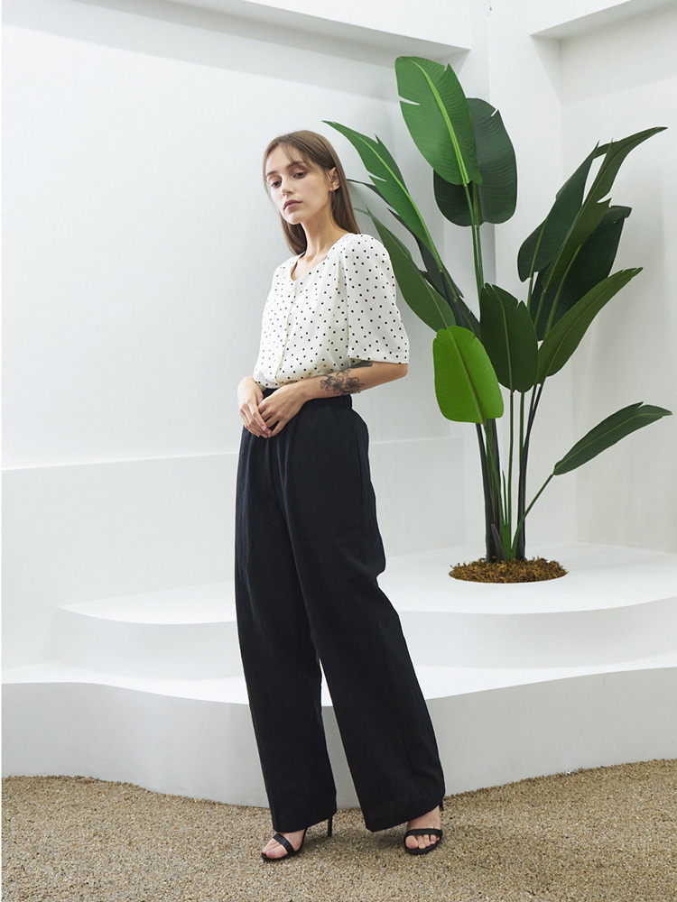 TO2-COTTON BD PANTS BLACK