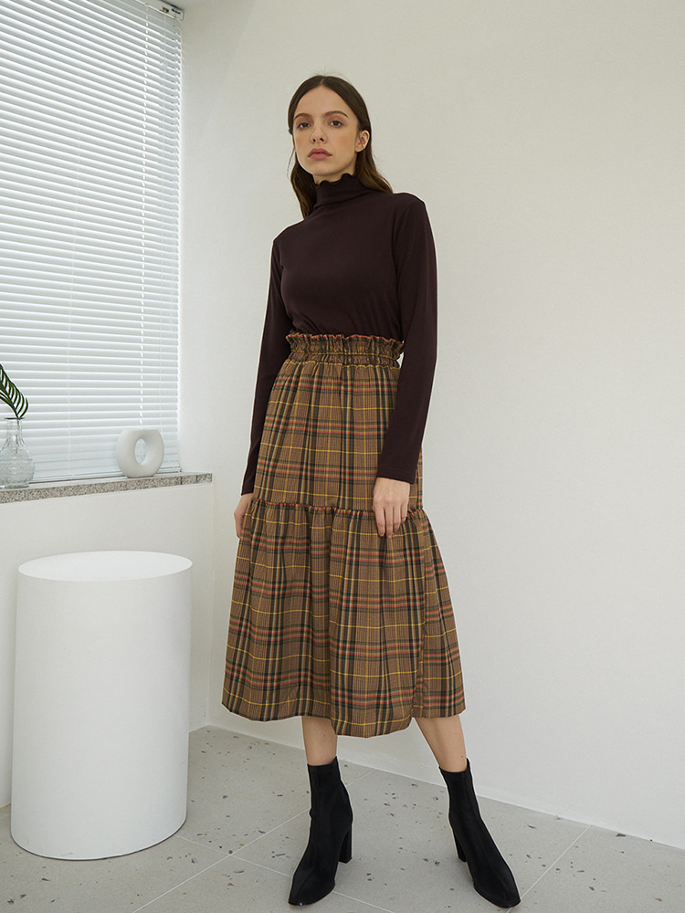 T03 RD BANDING SKIRT BROWN